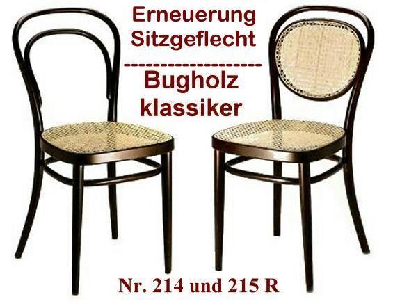 geflechterneuerung der sitzfl che eines thonet bugholzstuhl nr 214 oder 215 r sowie alle. Black Bedroom Furniture Sets. Home Design Ideas