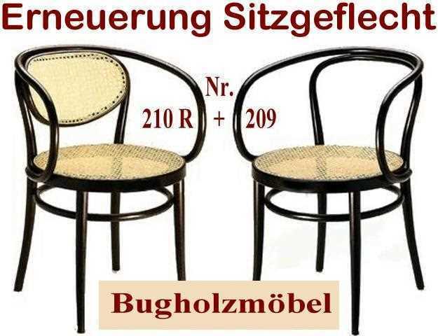 geflechterneuerung der sitzfl che eines thonet bugholzstuhl nr 209 oder 210 r sowie alle. Black Bedroom Furniture Sets. Home Design Ideas